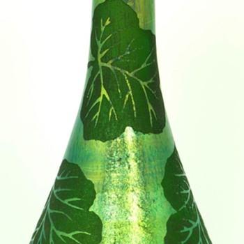 Loetz ACB Etched Vase  - Art Glass