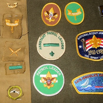 Saturday Evening Scout Post Patches Rank and Position - Medals Pins and Badges