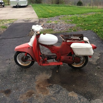 1960s Sears Puch Scooter with vintage Buco bags