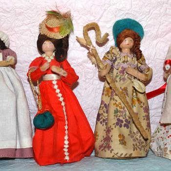 Wooden Peg Dolls  - Dolls