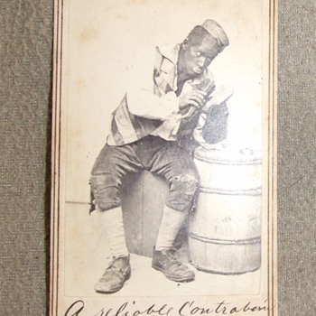 Civil War era racist/ derogatory black face cdv