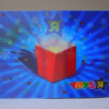 Hologram Lenticular Toys R Us Holiday Christmas Gift Card 2007 Retail Store Collectible - Advertising