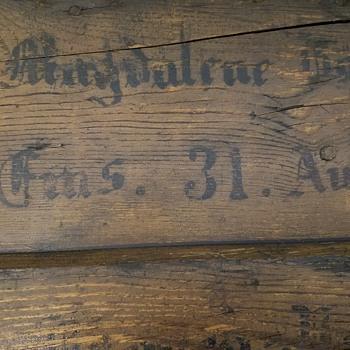 Immigrant Trunk ? Found in Bucks Co. PA Butcher's Barn - Furniture