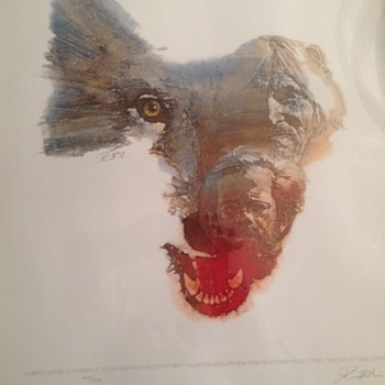 """Never Cry Wolf"" Signed and nubmered Lithograph"