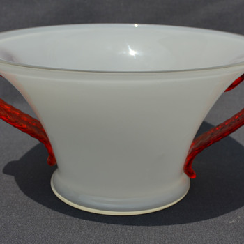 Kralik bowl with handles - Art Glass