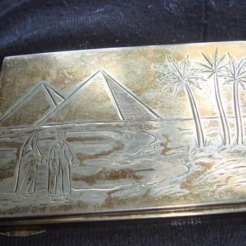 Egyptian religious silver 925 box  - Silver