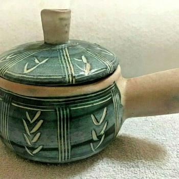 Puerto Rican Pottery Covered / Lidded Ramekin-- Hal Lasky - Mid-Century Modern