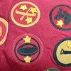 Antique scarf with badges