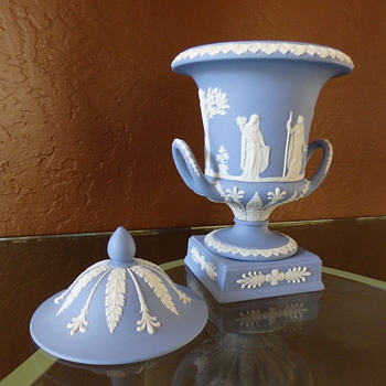 Blue Jasperware Urn by Wedgwood