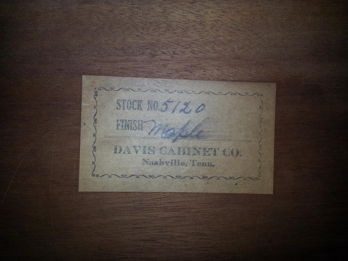 Davis Cabinet Company Bed   Collectors Weekly