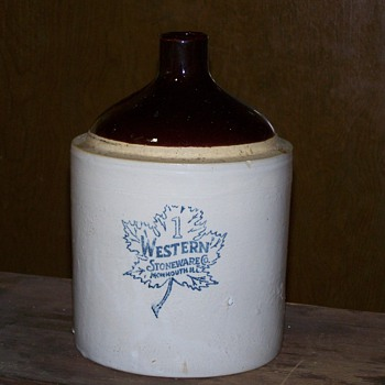 Western Stoneware of Mammouth, Ill. # 1 Jug - China and Dinnerware
