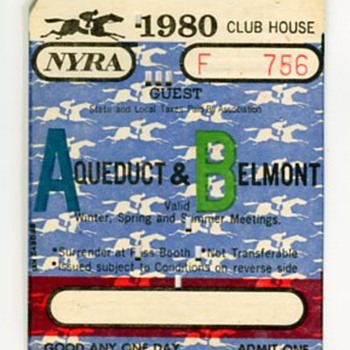 Vintage Horse Racing Paper Items - Advertising