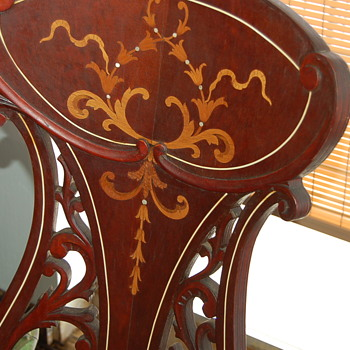 Antique Woman's Music Chair with Inlay
