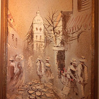 Boris Chezar Sand&Oil Painting