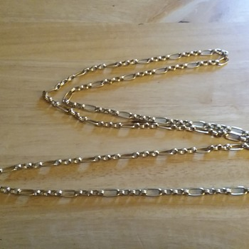 """Monet gold necklace 27"""" long - Costume Jewelry"""