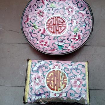 My Chinese match box holder and small dish