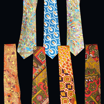 Psychedelic MOD Era Menswear Neckties.  - Accessories