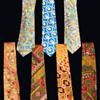 Psychedelic MOD Era Menswear Neckties.