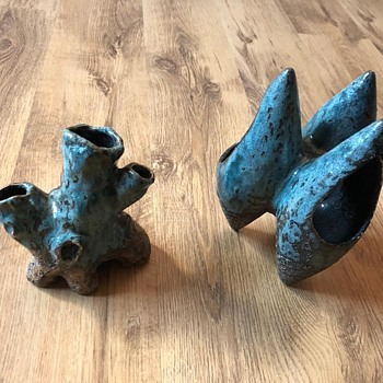 Mystery eye catcher ceramic vases - Pottery