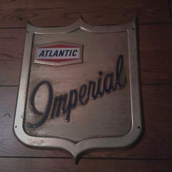 Atlantic Imperial Gas Pump Sign - Petroliana