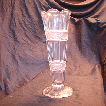 "please help !!! eapg ""banded portland"" look-a-like vase - Glassware"