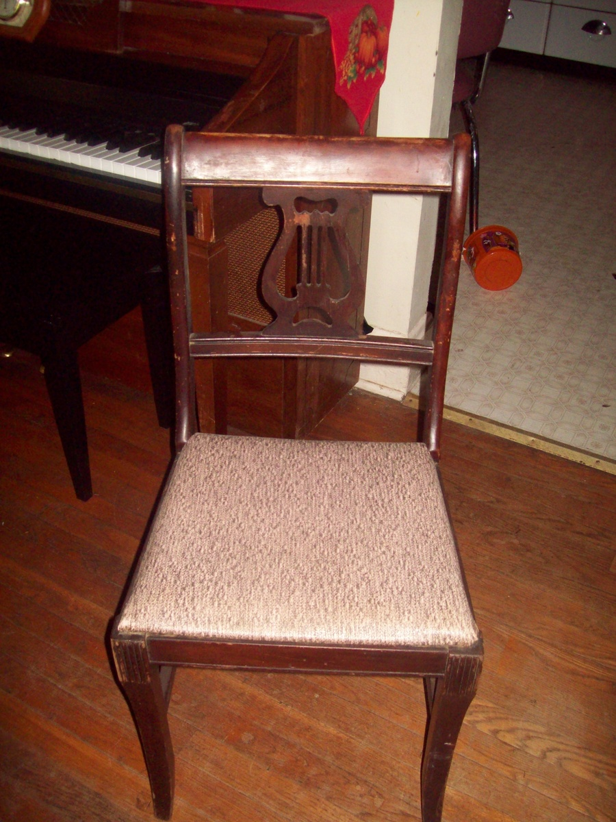 Vintage Early 1940 S Lyre Back Dining Room Chairs