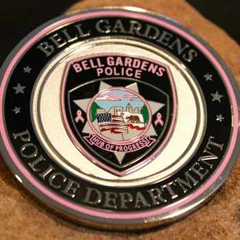 Bell Gardens Police Department's Breast Cancer Awareness Coin