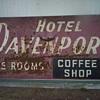Hotel Davenport  Sign
