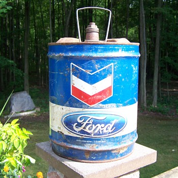 Chevron & Ford Oil Can