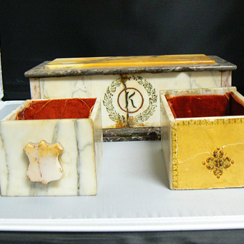 Marble box with drawers