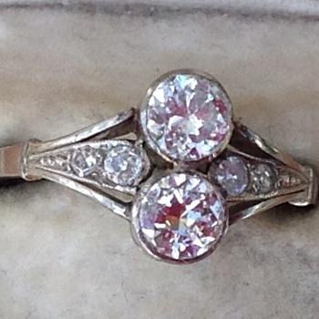 Art Nouveau/ Deco diamond and white gold ring - Fine Jewelry