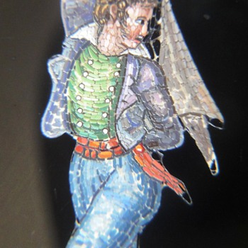 Micro Mosaic brooch set in 18K called: My private dancer! - Fine Jewelry
