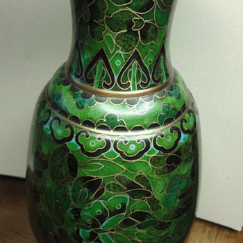 Chinese Cloisonné vase on copper.  - Asian