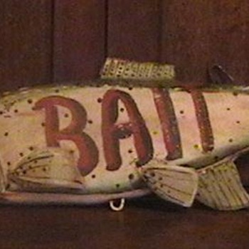 Vintage Bait Sign - Signs