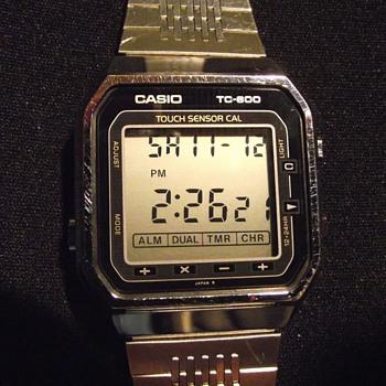 1986-casio tc 600-touch sensor calculator/watch-lcd quartz.
