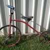 Vintage high wheel style kids bike