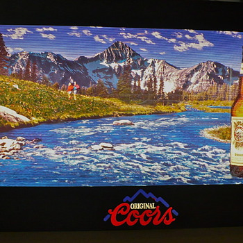 Coors running river sign - Breweriana