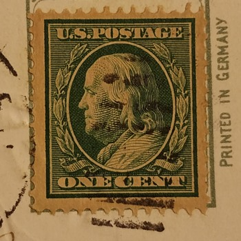 One cent Benjamin Franklin Stamp  - Stamps