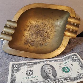 brass ashtray (#2) - Tobacciana