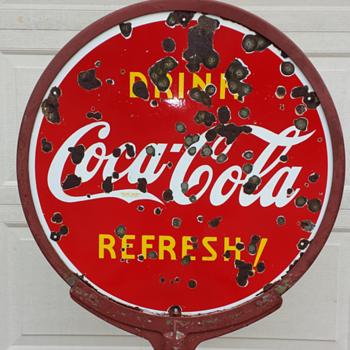Coca Cola Lollipop Sign - Coca-Cola