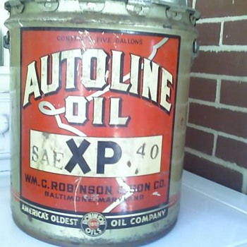 Autoline 5 Gallon Can - Petroliana