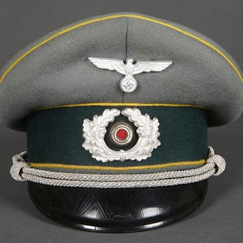 Third Reich Signals Officer Visor cap