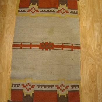 Vintage textile weaving wool approx 2 x 4 feet - Rugs and Textiles