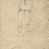 Pair of 19th Century Folk Art Drawings on Envelopes