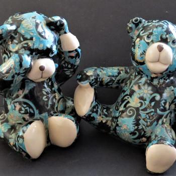 Decoupage Pottery Teddy Bears - Global Studio Cornwall? - Dolls