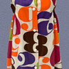 1960's Pop Art Dress with Colorful Numbers