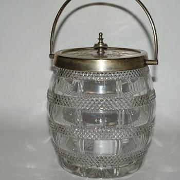 Vintage or Antique Biscuit Jar - Marked K & P - Kitchen
