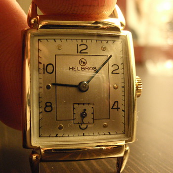 Late 40's Helbros 10K gold filled watch - Wristwatches