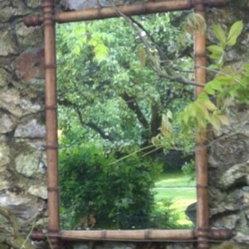 Repurpose salvage old mirror.