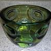 Green Art Glass Heavy Thick Scandinavian?